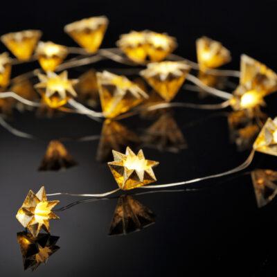 Lichterkette Handgemacht Gold