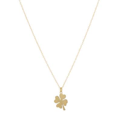 Halskette Kleeblatt gold