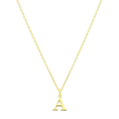 Halskette mit Buchstabe Anhänger gold